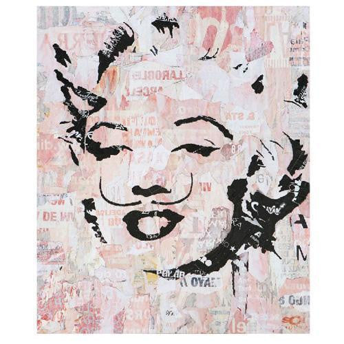 Marilyn Monroe Salvador Dali Art Canvas Wall Poster