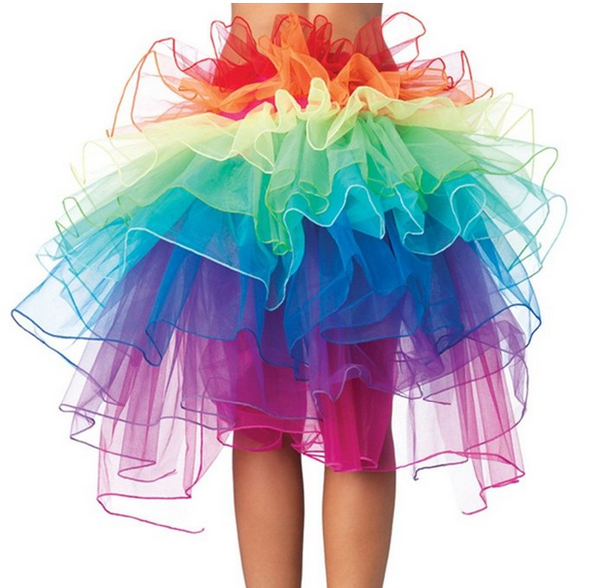 Organza Rainbow Dance Bustle Costume
