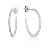 STERLING SILVER STUDS HOOP EARRINGS