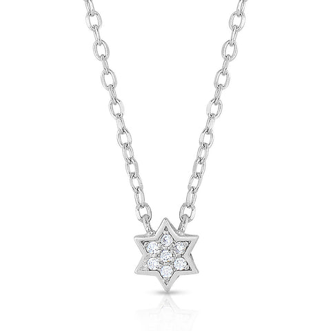 STERLING SILVER MINI STAR OF DAVID NECKLACE
