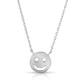 STERLING SILVER STAR & HAPPY FACE NECKLACE