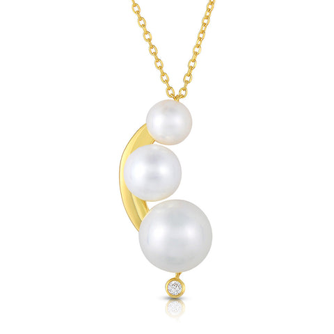 STERLING SILVER WITH PEARLS NECKLACE