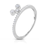 STERLING SILVER CZ MINI MIKEY RING