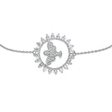 STERLING SILVER CZ HOLLY SPIRIT BRACELET