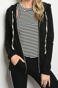 THE VANESSA BASIC ZIP UP HOODIE