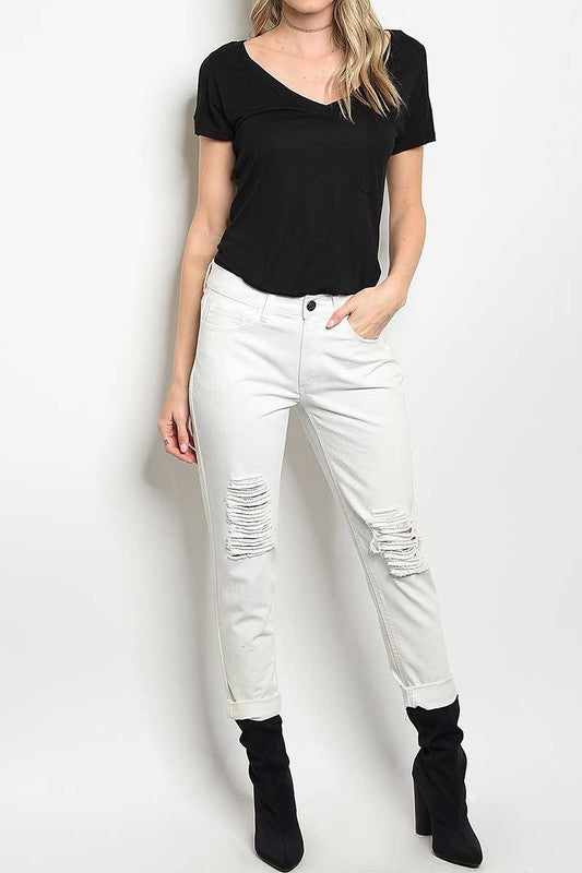 DANA DISTRESSED RELAXED SKINNY