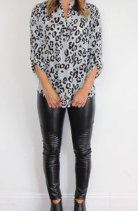MAISY MINT LEOPARD TOP