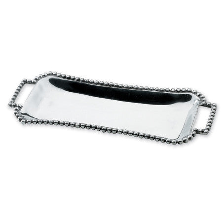 Narrow Beaded Tray w/ Handles