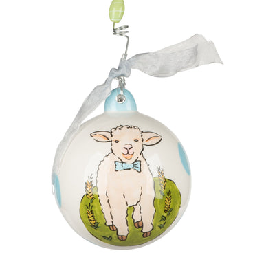 Lamb Baby's First Boy Ornament