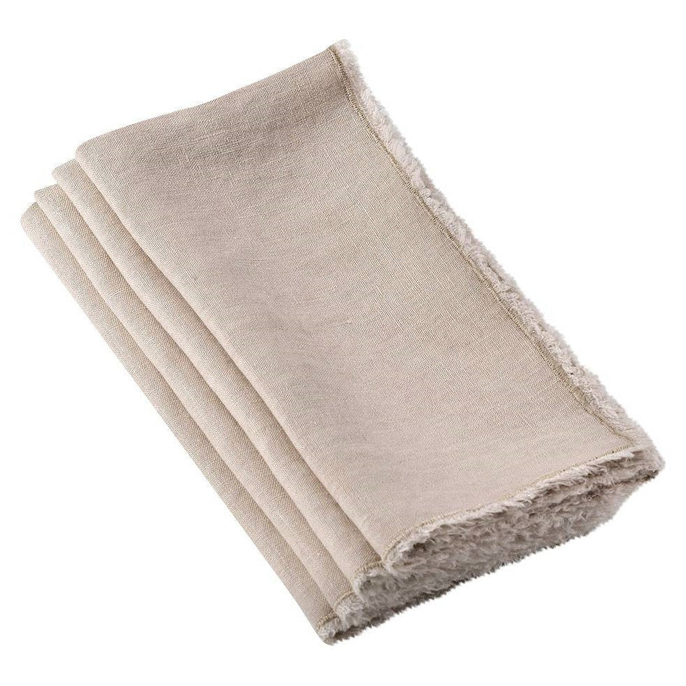 Fringed Stone Washed Napkin - Set/4