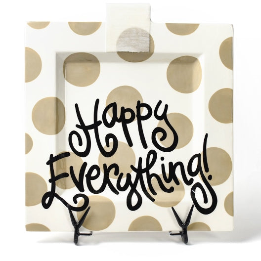 Happy Everything Big Square Platter