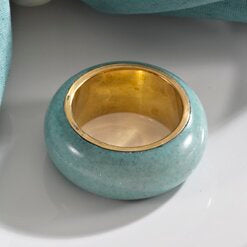 Dome Napkin Ring - Sea Green