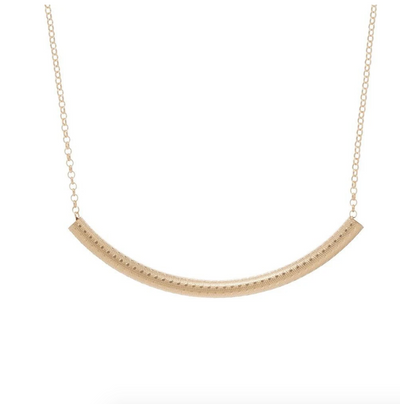 "16"" Bliss Bar Textured Necklace"