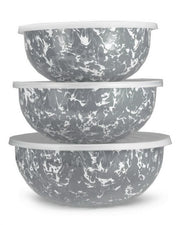 Enamelware Mixing Bowl Set/3