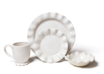 Signature White Ruffle Dinnerware