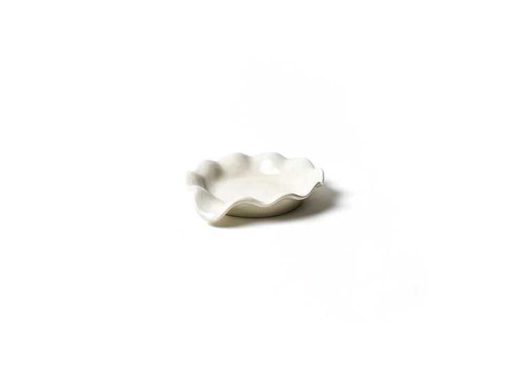 Signature White Ruffle Spoon Rest