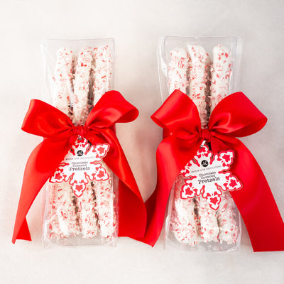 Peppermint & Chocolate Covered Pretzel Rods