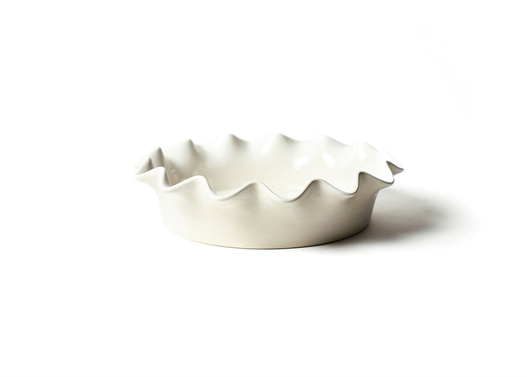 Signature White Ruffle Pie Dish
