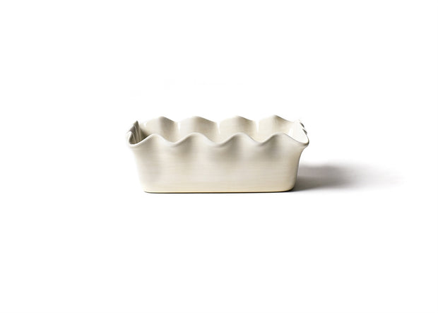 Signature White Ruffle Loaf Pan