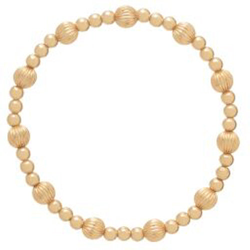 Dignity Sincerity Gold Bead Bracelet