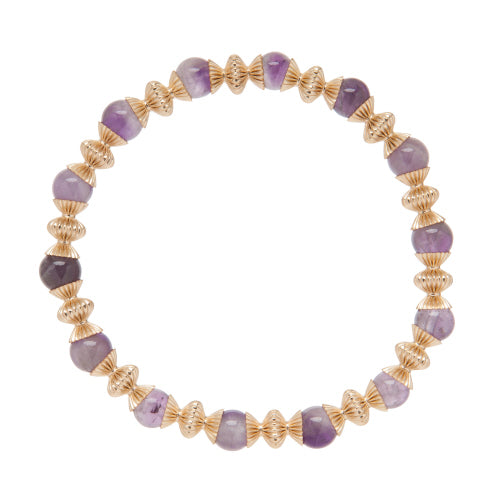 Loyalty Gold 6mm Bead Bracelet - Gemstone