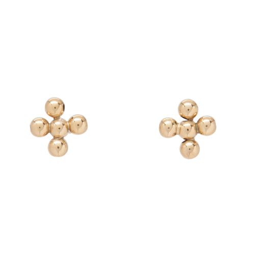 Classic Beaded Signature Cross Stud Earring