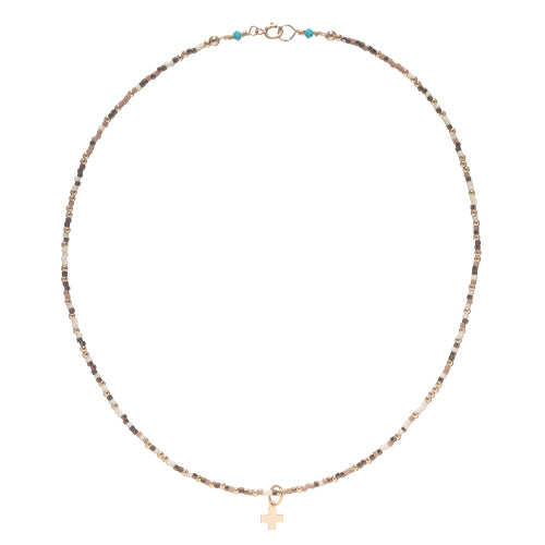"15"" Choker Hope Unwritten w/ Signature Cross Gold Charm"