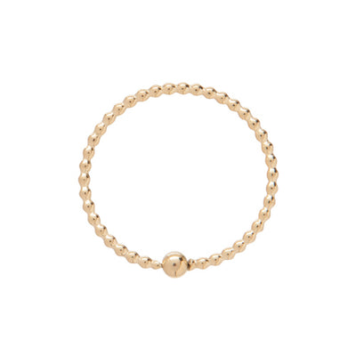 Classic Gold 1mm Bead Halo Ring