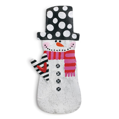Snowman with Heart Door Hanger