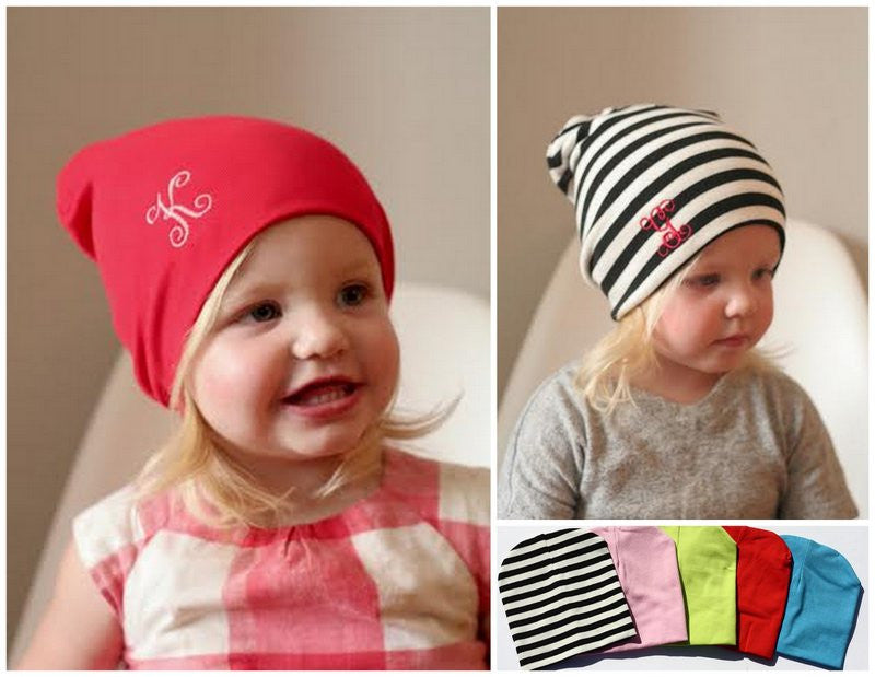 Personalized Kids Colorful Beanies - 5 Colors!