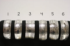 Antique Silver Tibetan Cuff Bracelets- 6 Styles to choose from
