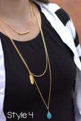 Trendy Gold Three Layer Necklaces - 4 styles to choose from
