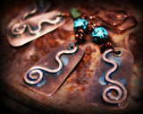 Hand Forged Copper Earrings