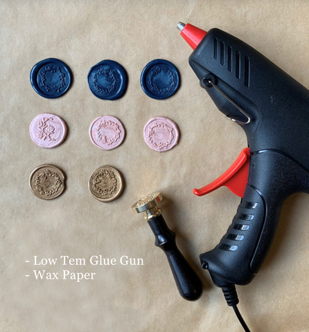 how to use glue gun wax seal sealing wax