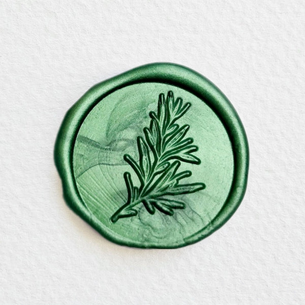 Rosemary Botanical Twig Wax Seal Stamp
