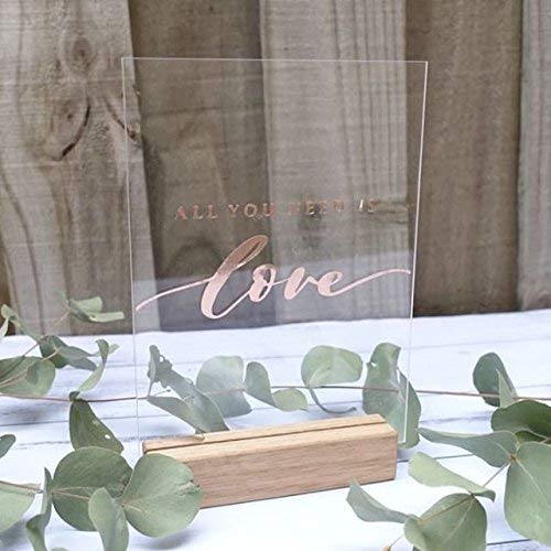 5x7 Inch Clear Acrylic Sheet | Wedding Table Number Signs, Pack of 20