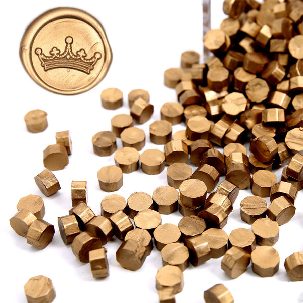Metallic Antique Gold Sealing Wax Beads, 180 Count