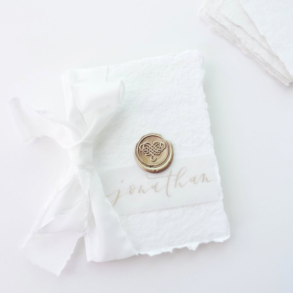 Love Heart Wedding The Knot Wax Seal Stamp