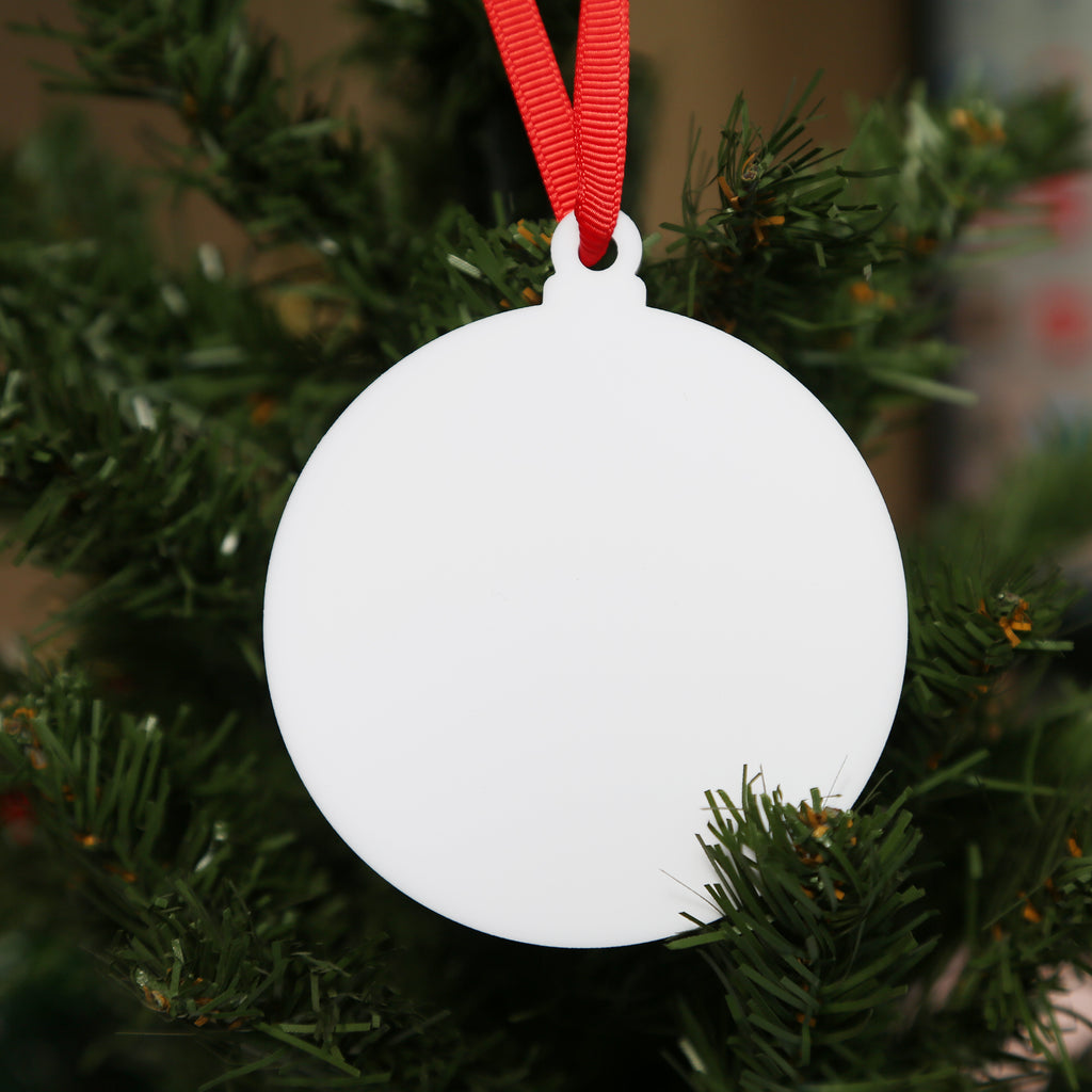 "3"" White Round Acrylic Christmas Ornament, 20 Pack (Sold out in Canada)"