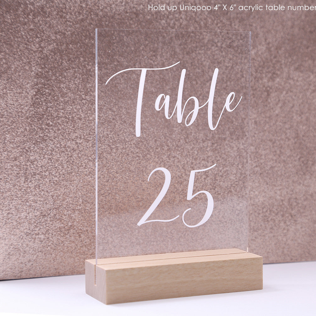 "4"" Birch Wood Stands for Wedding Acrylic Sign, Wood Table Number Holders, Display Stand - Set of 20"