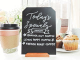 8x6 inch Chalkboard Signs with Rustic Wood Stands | Set of 4
