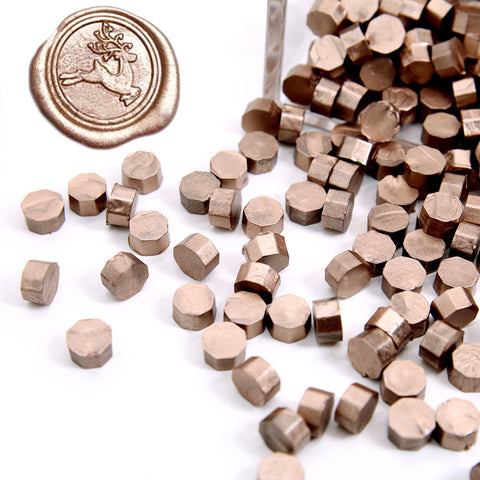 Metallic Champagne Gold Sealing Wax Beads, 180 Count