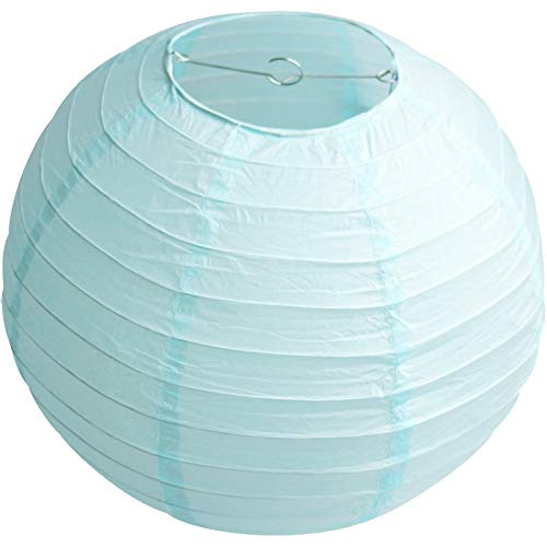 UNIQOOO 18Pcs Premium Assorted Size/Color Blue Paper Lantern Set, Reusable Hanging Decorative Japanese Chinese Paper Lanterns, Easy Assemble, for Birthday Wedding Baby Shower Holiday Party ( Only Delivery to US)