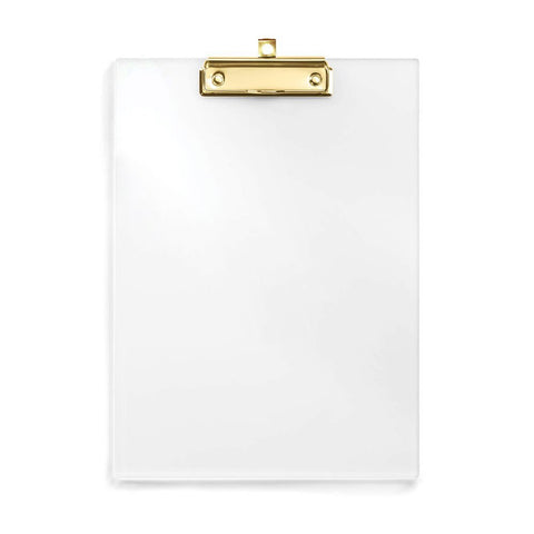 Clear Acrylic Clipboard with Gold Clip