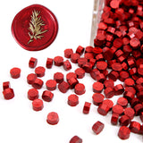 Metallic Burgundy Wine Red Sealing Wax Beads, 180 Count