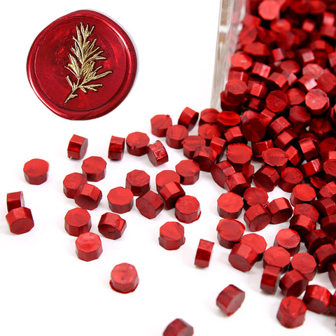 180 PCS Metallic Burgundy Wine Red Bottle Sealing Wax Beads