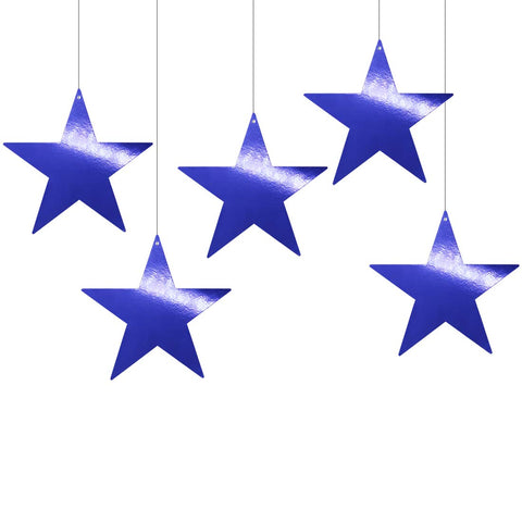 Metallic Blue Foil Star Cutout