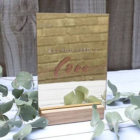 "5x7"" Blank Mirrored Gold Acrylic Sheets 