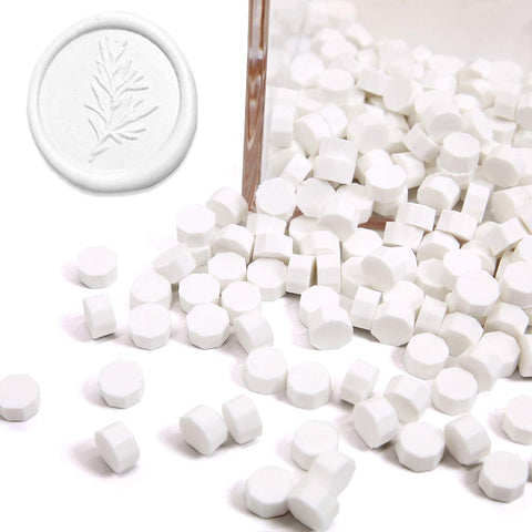 White Sealing Wax Beads, 180 Count