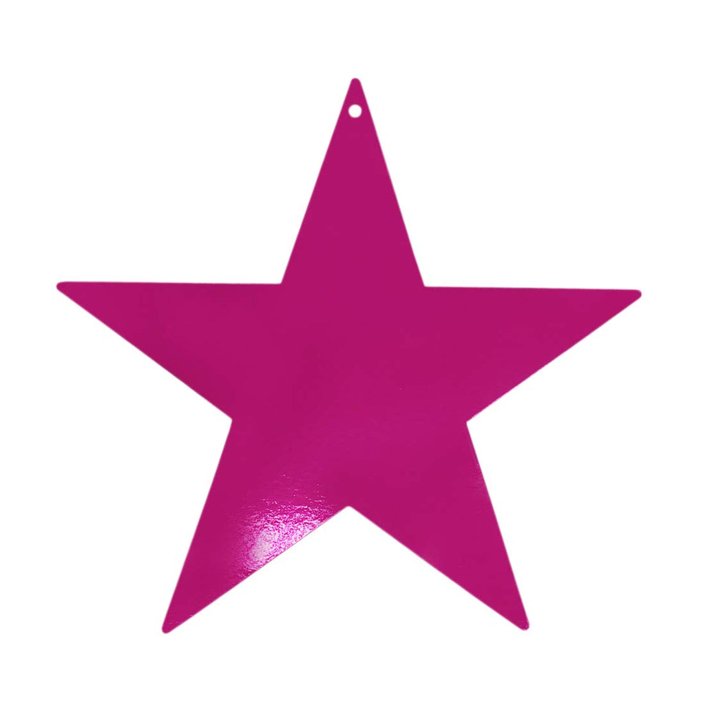 Assorted Metallic Gold, Silver, Blue, Red, Purple, Pink Foil Star Cutouts